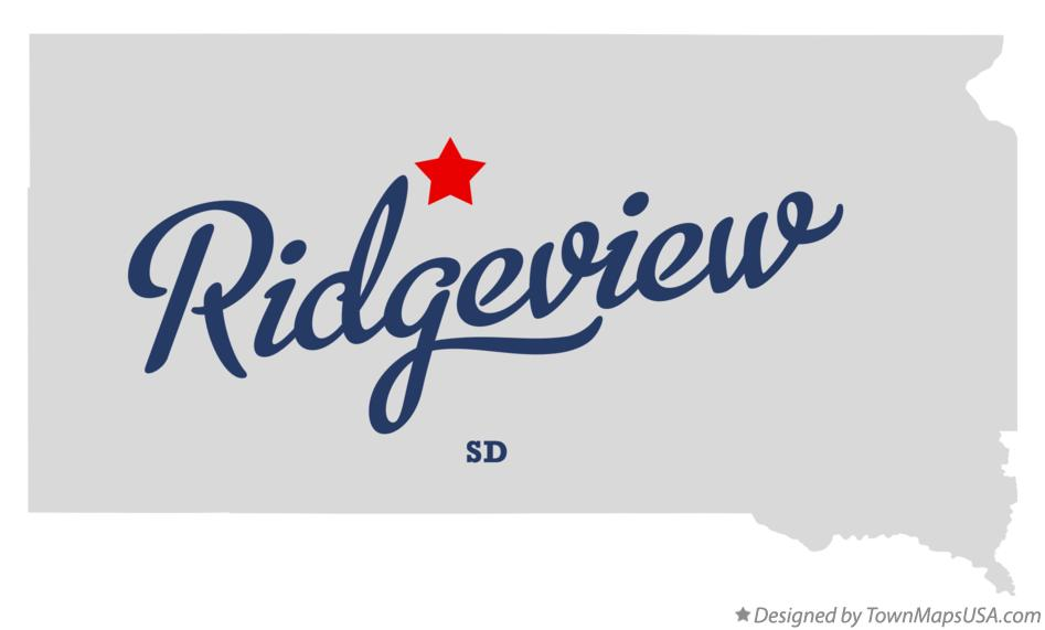 Map of Ridgeview South Dakota SD