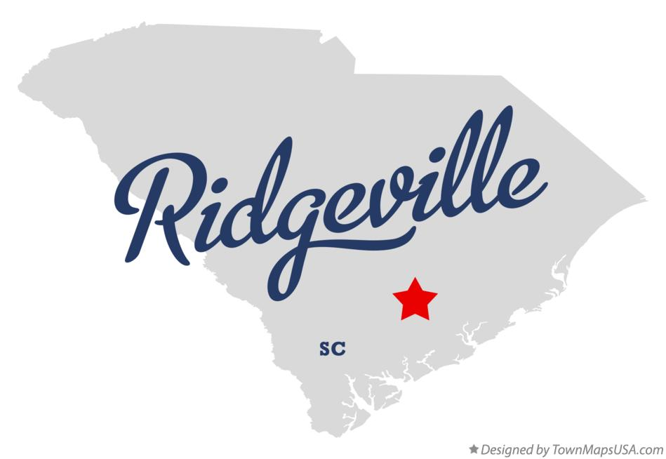 Map of Ridgeville South Carolina SC