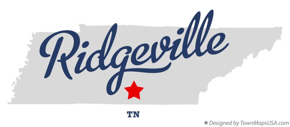 Map of Ridgeville Tennessee TN