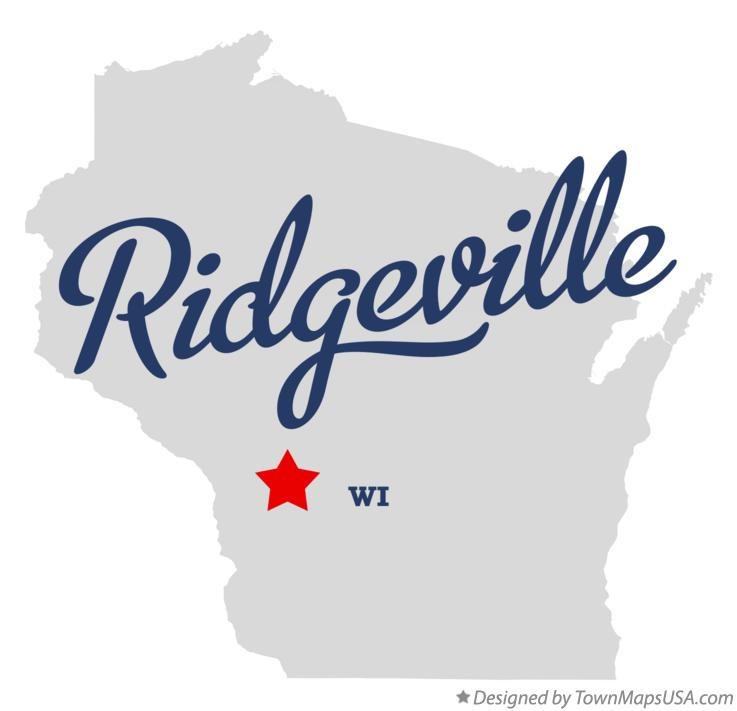 Map of Ridgeville Wisconsin WI