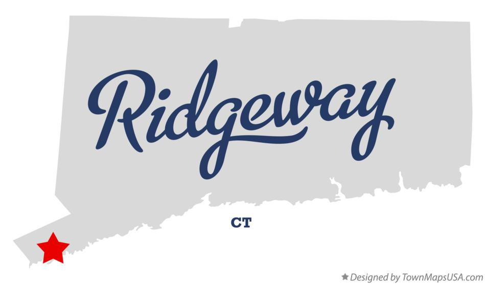 Map of Ridgeway Connecticut CT