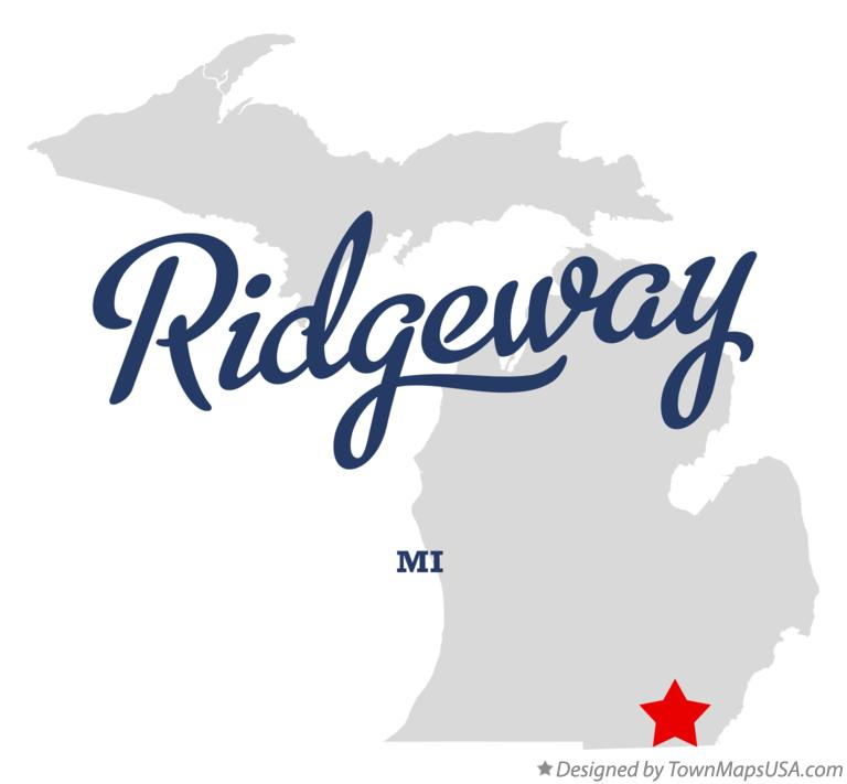 Map of Ridgeway Michigan MI