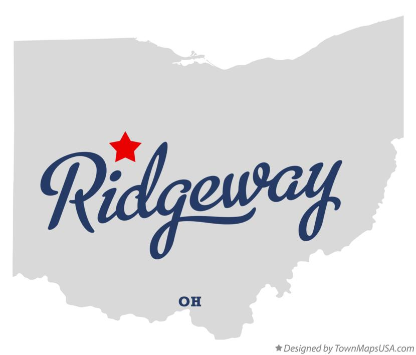 Map of Ridgeway Ohio OH