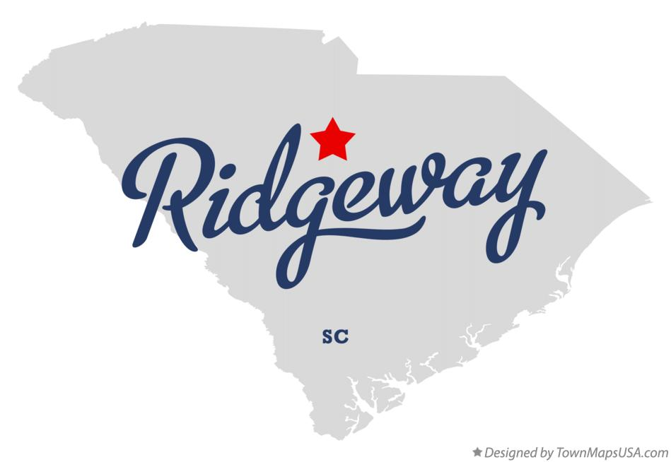 Map of Ridgeway South Carolina SC