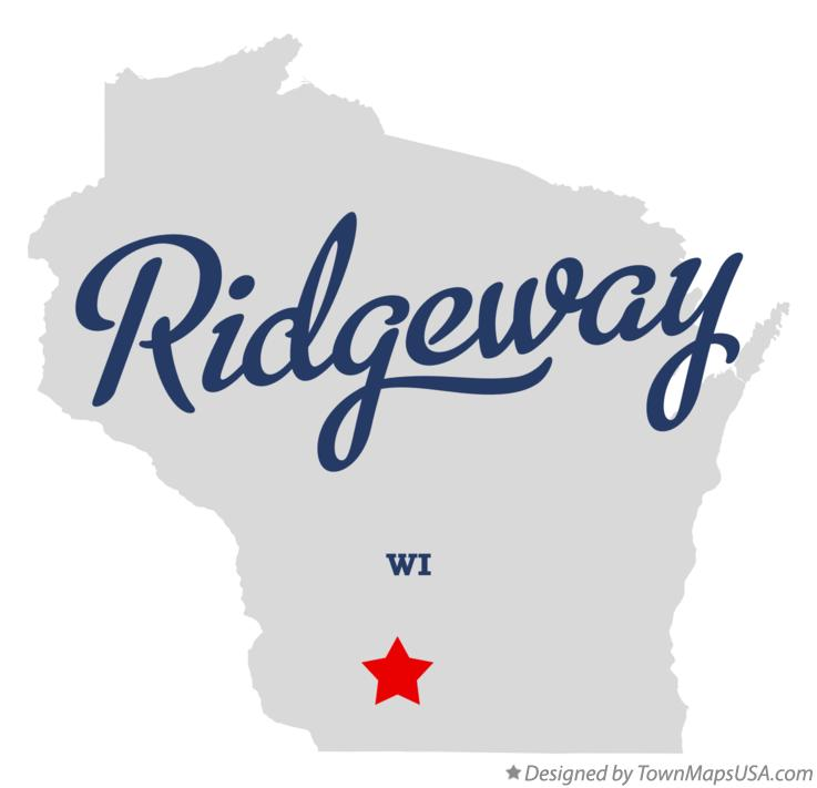 Map of Ridgeway Wisconsin WI