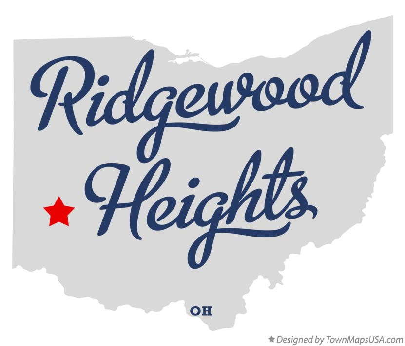 Map of Ridgewood Heights Ohio OH
