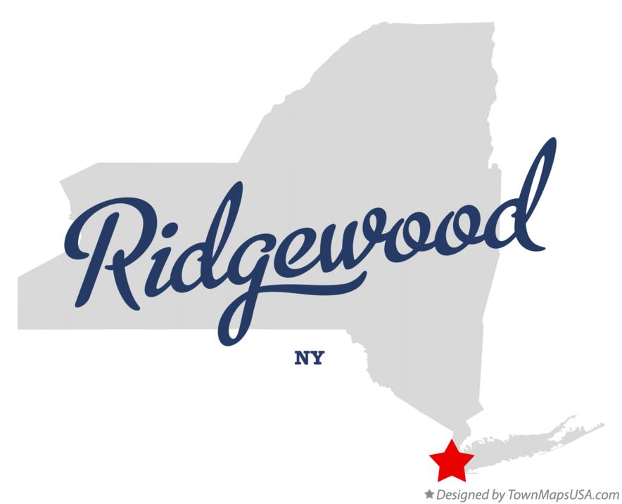 Map of Ridgewood New York NY