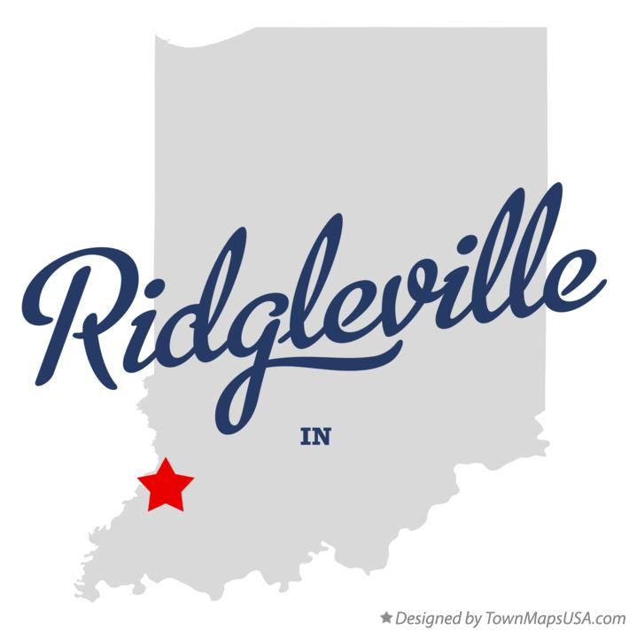 Map of Ridgleville Indiana IN