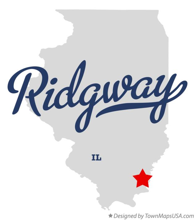 Map of Ridgway Illinois IL