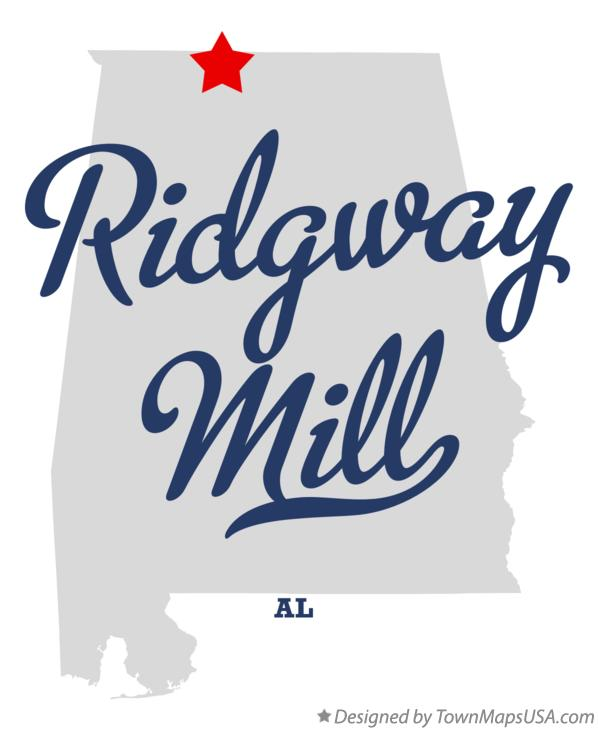 Map of Ridgway Mill Alabama AL