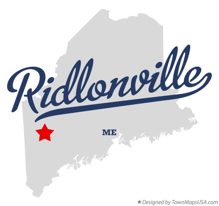 Map of Ridlonville Maine ME