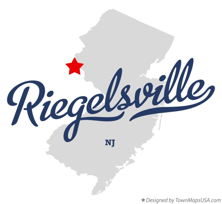 Map of Riegelsville New Jersey NJ