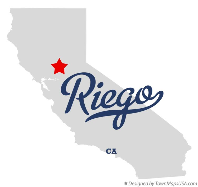 Map of Riego California CA