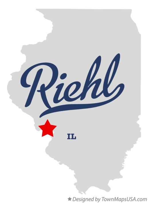 Map of Riehl Illinois IL