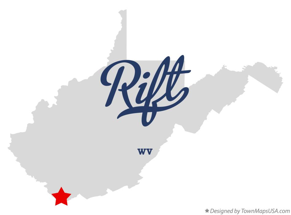 Map of Rift West Virginia WV