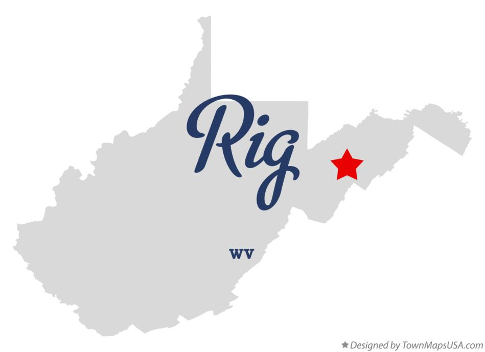 Map of Rig West Virginia WV