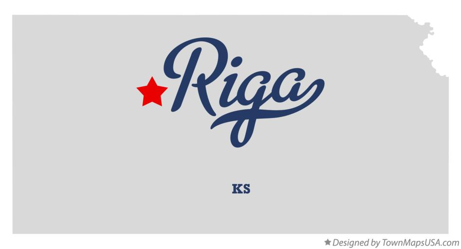 Map of Riga Kansas KS