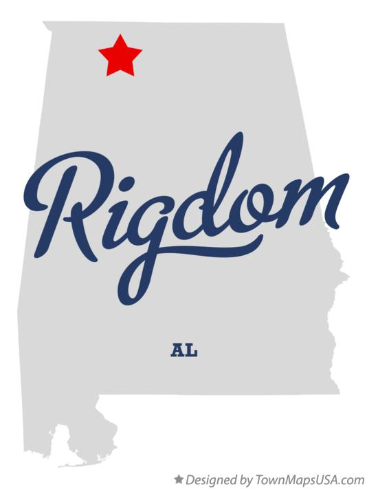 Map of Rigdom Alabama AL