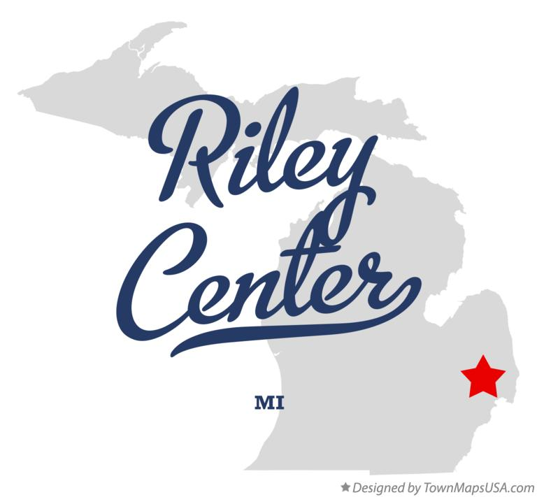Map of Riley Center Michigan MI