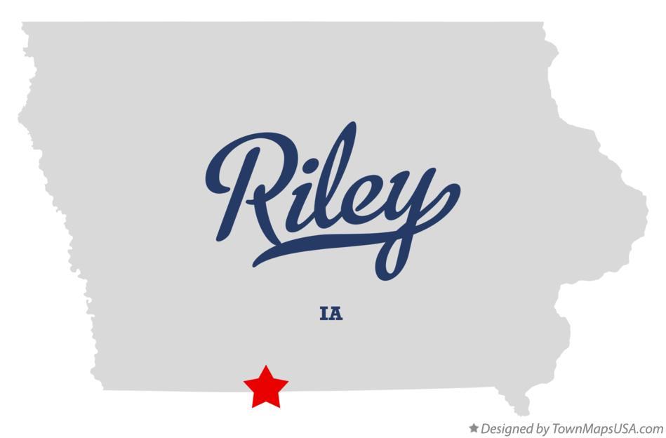 Map of Riley Iowa IA
