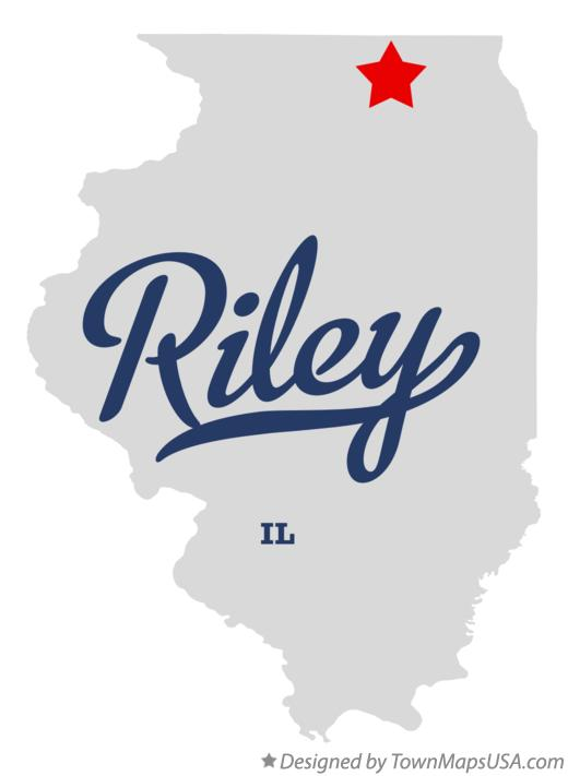 Map of Riley Illinois IL