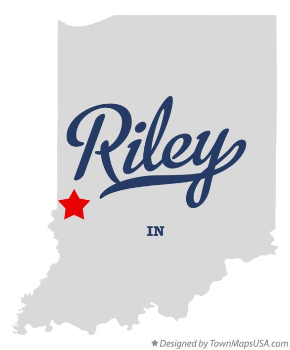 Map of Riley Indiana IN