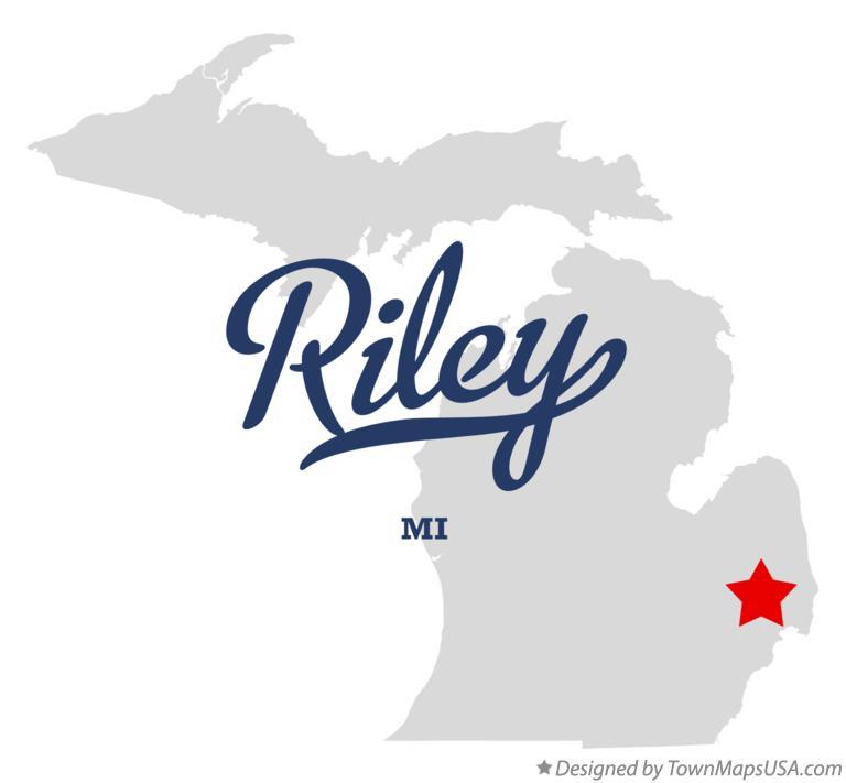 Memphis Michigan Map.Map Of Riley St Clair County Mi Michigan