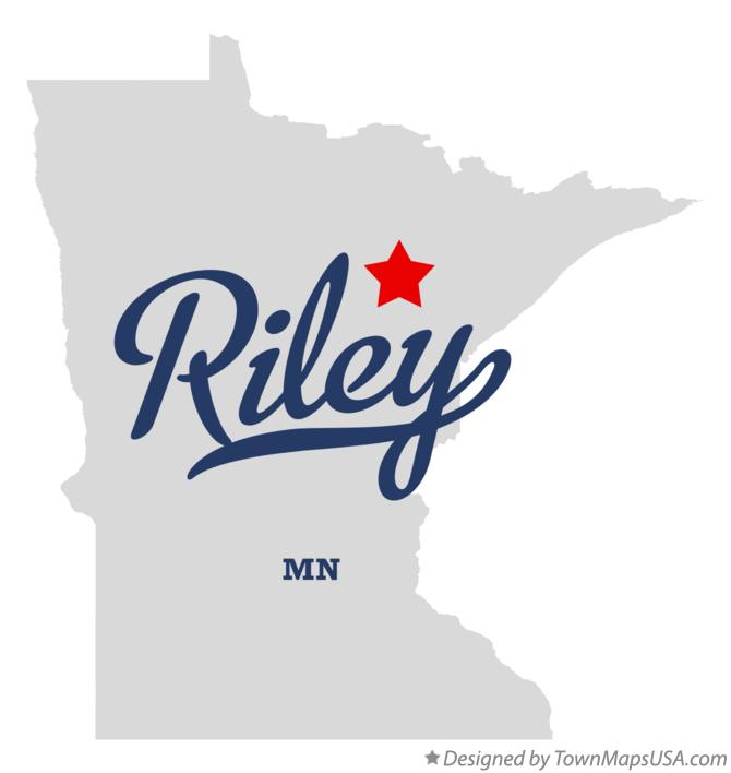 Map of Riley Minnesota MN