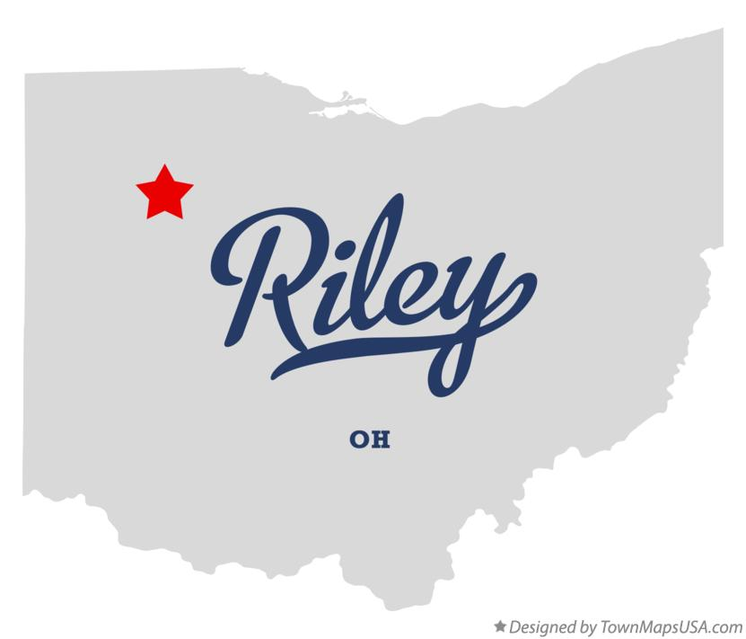 Map of Riley Ohio OH