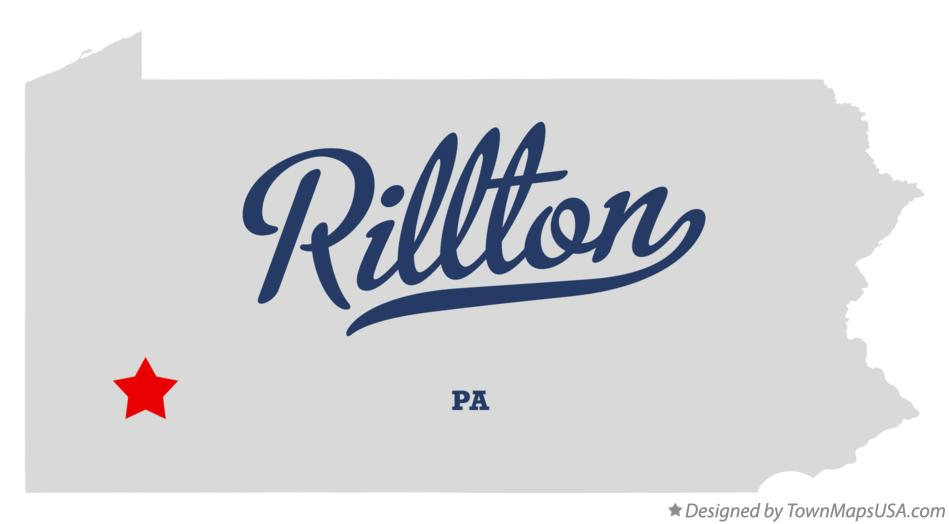 Map of Rillton Pennsylvania PA