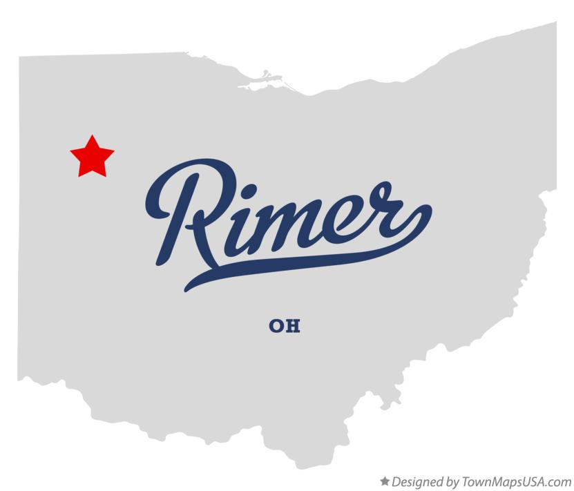 Map of Rimer Ohio OH