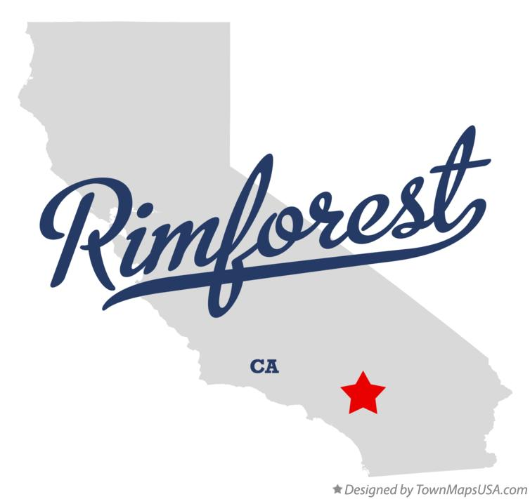 Map of Rimforest California CA