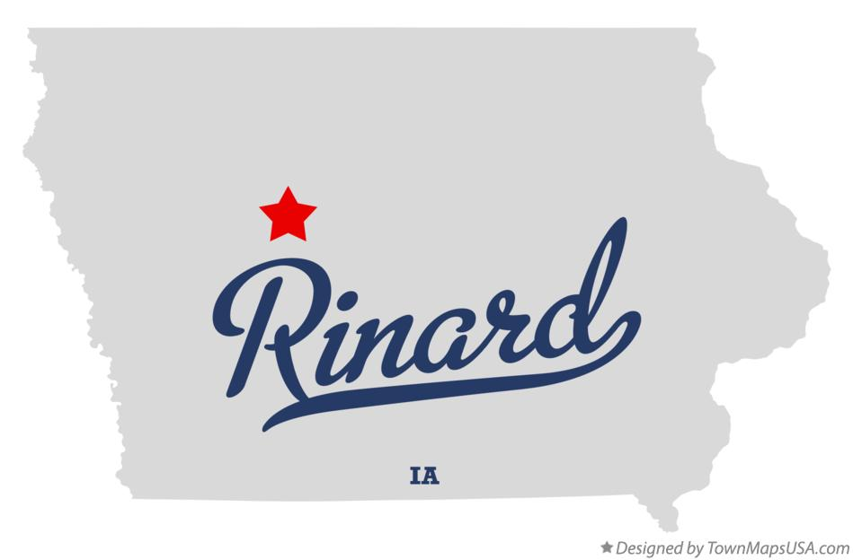 Map of Rinard Iowa IA