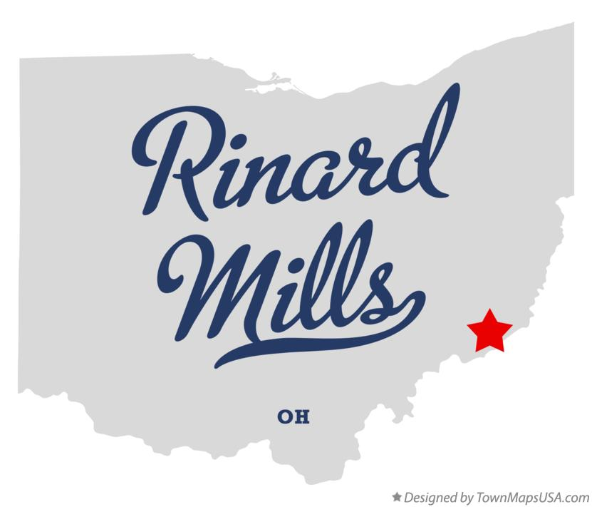Map of Rinard Mills Ohio OH