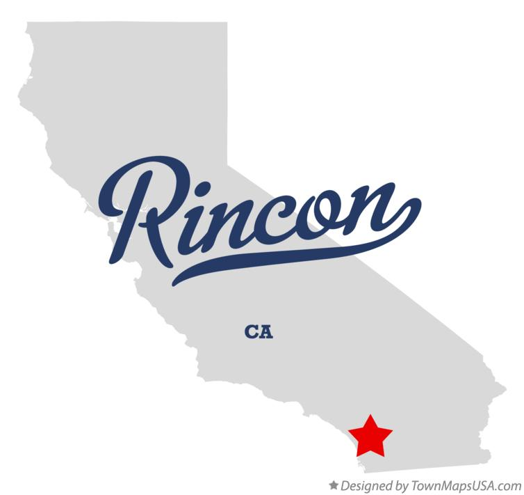 Map of Rincon California CA