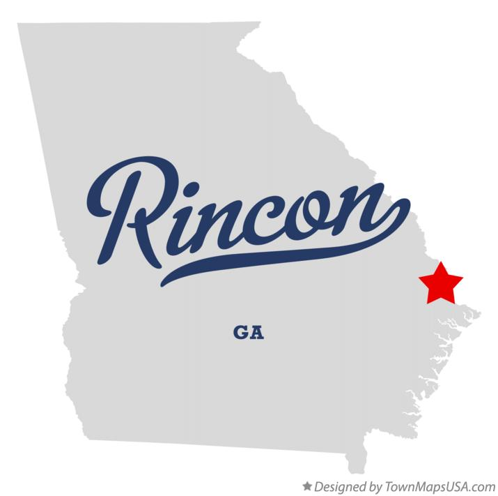 Map of Rincon, GA, Georgia