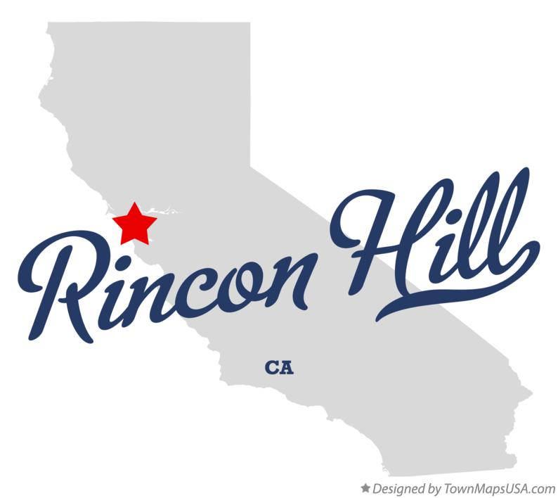 Map of Rincon Hill California CA