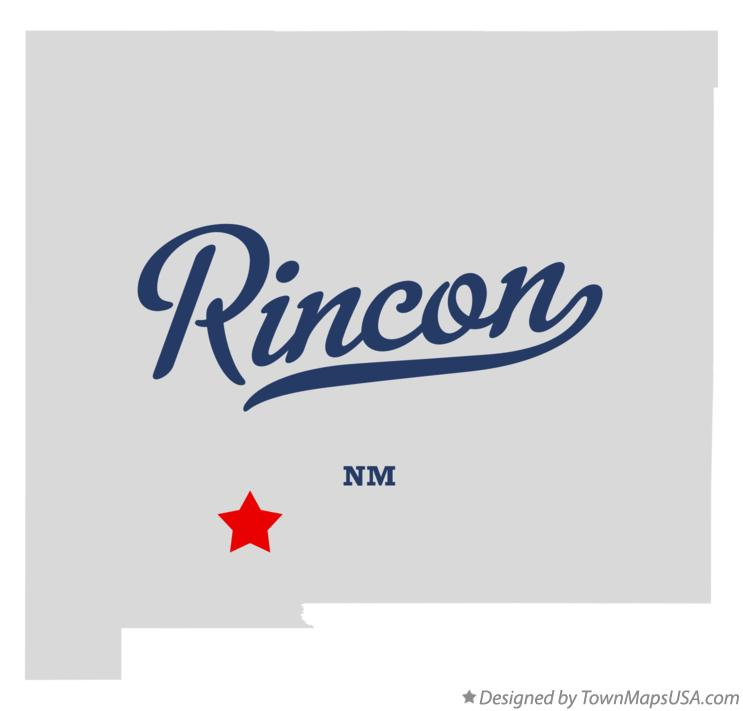 Map of Rincon New Mexico NM