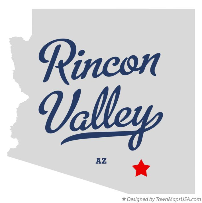 Map of Rincon Valley Arizona AZ