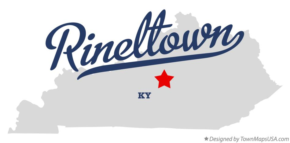 Map of Rineltown Kentucky KY