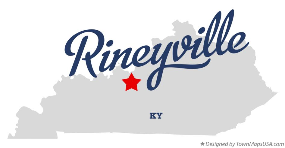 Map of Rineyville Kentucky KY