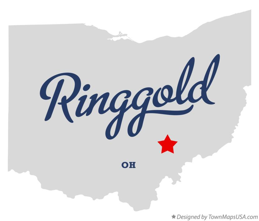 Map of Ringgold Ohio OH