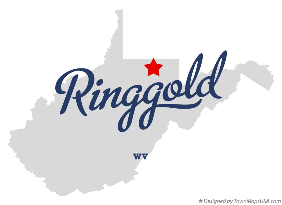 Map of Ringgold West Virginia WV