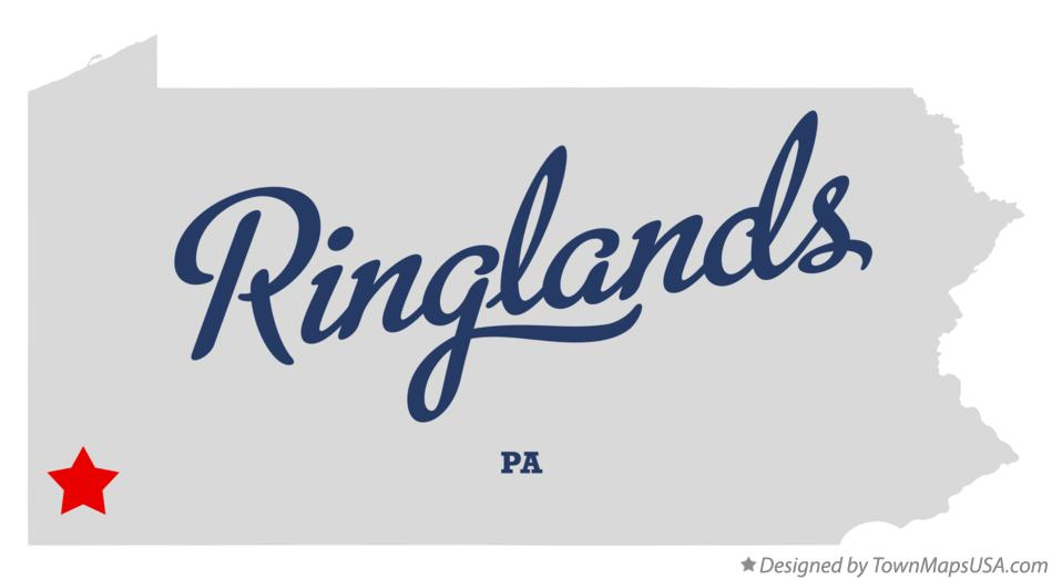 Map of Ringlands Pennsylvania PA