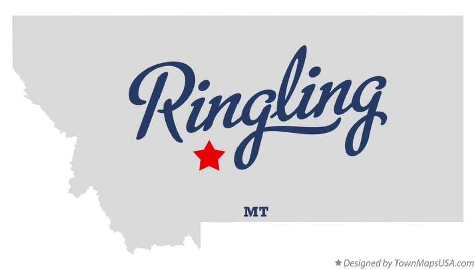 Map of Ringling Montana MT
