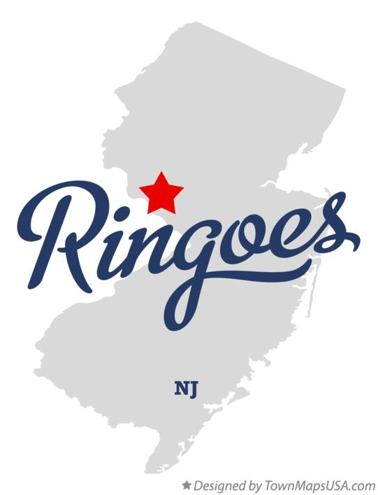 Map of Ringoes New Jersey NJ