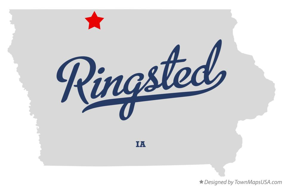 Map of Ringsted Iowa IA