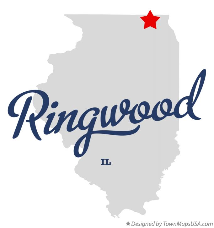 Map of Ringwood Illinois IL
