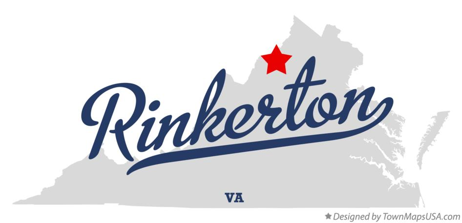 Map of Rinkerton Virginia VA
