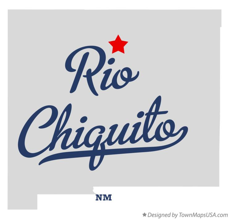 Map of Rio Chiquito New Mexico NM